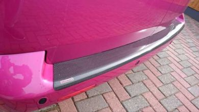 VW T6 Carbon Fibre Full Width Wraparound Rear Bumper Protector (Barn Door Only)
