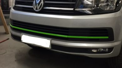 VW T6 Lower grill streamer strips