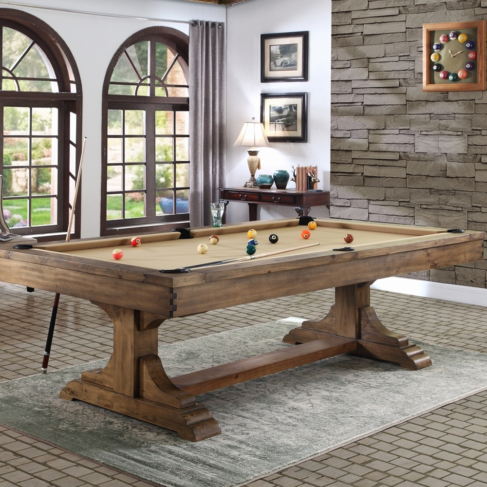 Dallas 8 Foot Pool Table Antique Honey