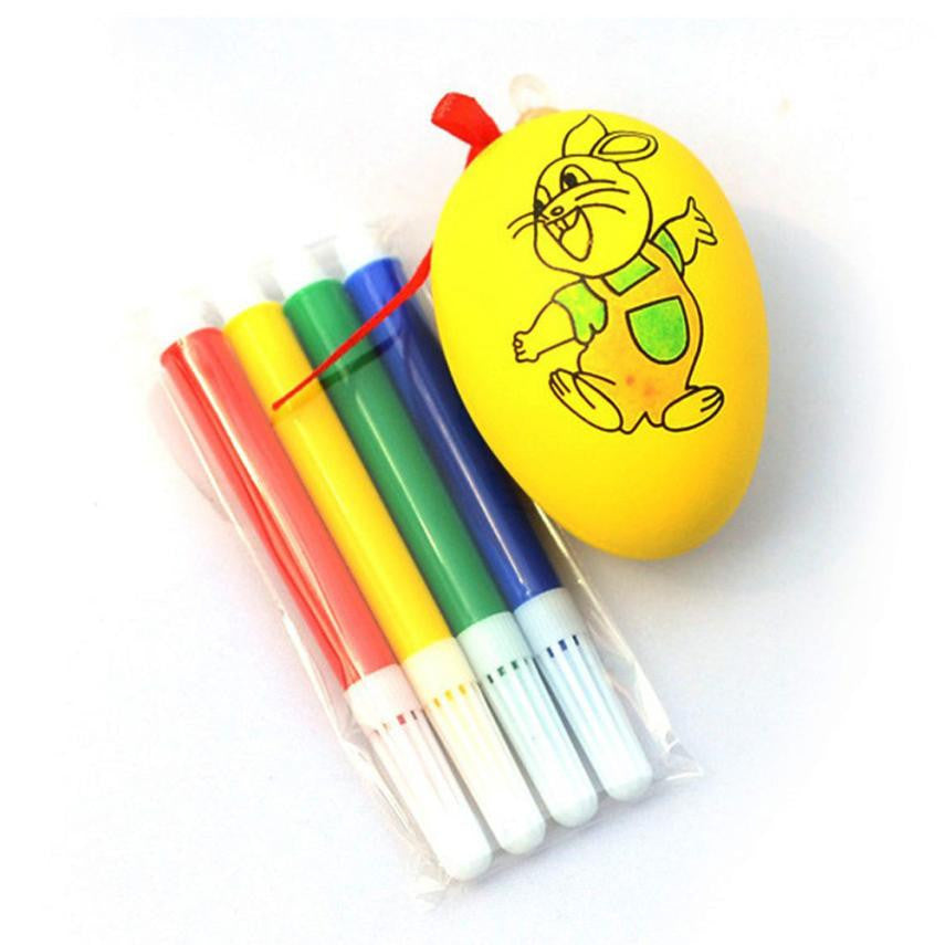4 watercolor pen Educaitonal toys for children Water Color Pen Kids DIY Painting Color Easter Egg Drawing Toys