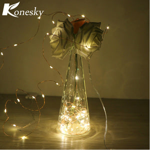 2m 20-LED Copper Wire String Light for Glass Craft Bottle Fairy