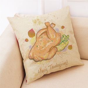 Pillowcase Turkey Pillow Cover  18x18Inch