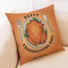 Load image into Gallery viewer, Pillowcase Turkey Pillow Cover  18x18Inch