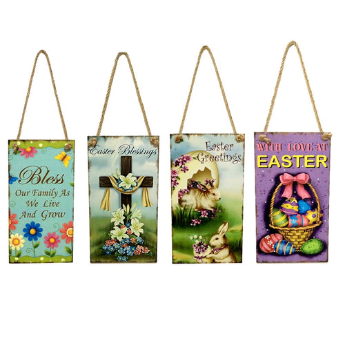 Easter Egg Hanging Board Decorative