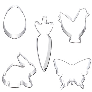 5pcs Easter Cookie Cutters