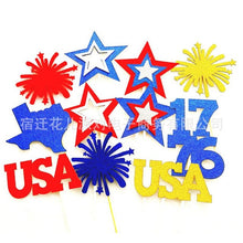 Load image into Gallery viewer, 4th Of July Favors Stars Cupcake Toppers