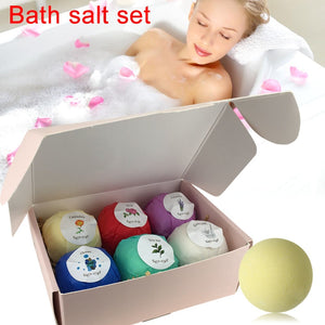 6pcs Bath Salts Bombs Ball Bath Salt Set Body Scrub Whitening Moisture SPA