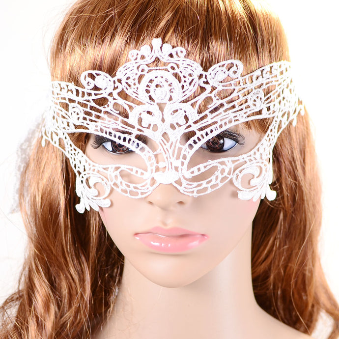 Black Lace Mask Women