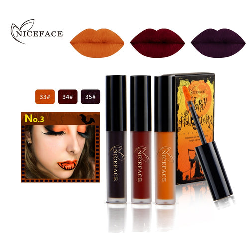 3pcs Waterproof Long Lasting Liquid Velvet Lipstick