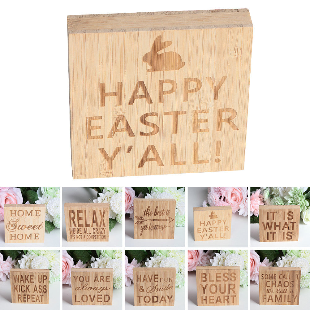 Decorative Eeaster Block Sign
