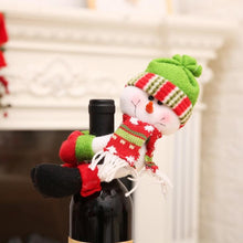 Load image into Gallery viewer, Christmas Wine Bottle Cover Holder in Santa Snowman and Elf for Home & Kitchen Holiday Party Table Decorations