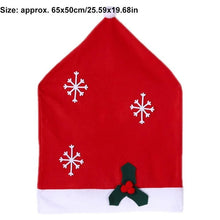 Load image into Gallery viewer, Christmas Hat Chair Covers Decorations