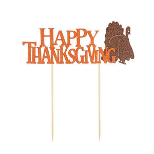 Cake Topper Happy Thanksgiving