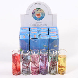 New 12 pcs /1pcs Aromatherapy Smokeless Ocean  Scented Jelly Candle