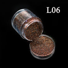 Load image into Gallery viewer, 10g Nail Glitter Dust 12 Colors Laser Colorful Sequin Dust Polish Glitter Powder Manicure  Nail Art