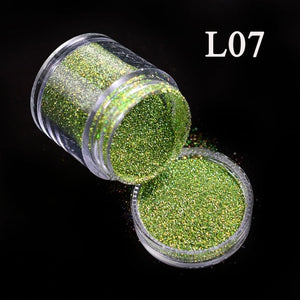 10g Nail Glitter Dust 12 Colors Laser Colorful Sequin Dust Polish Glitter Powder Manicure  Nail Art