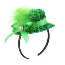 Load image into Gallery viewer, Lucky  Green Hat Headband Lucky Grass Glasses