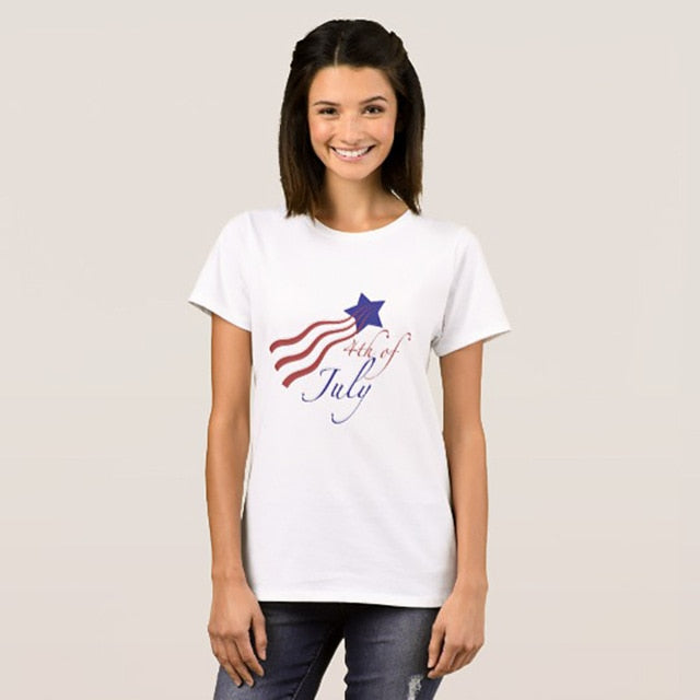 Star and Stripes Ladies Floral T-Shirt