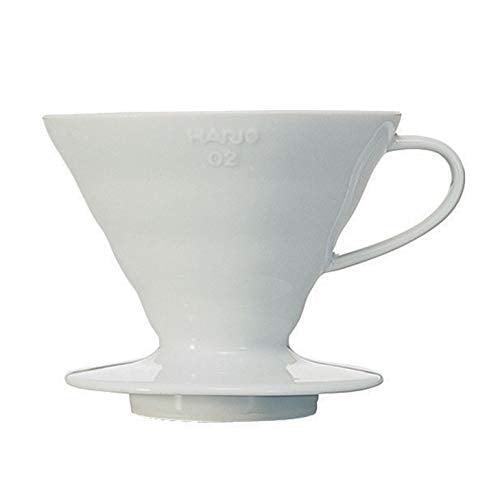 Hario V60 Ceramic Coffee Dripper - White - Size #2 - DubbsCoffee