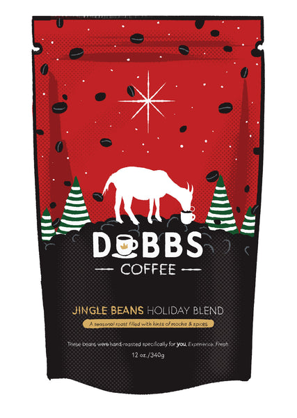 Jingle Beans | Holiday Blend | 100% Natural | Creamy & Friendly Medium Roast! - DubbsCoffee