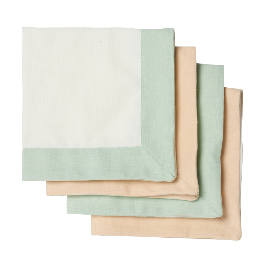 Mint and Beige Napkin Set