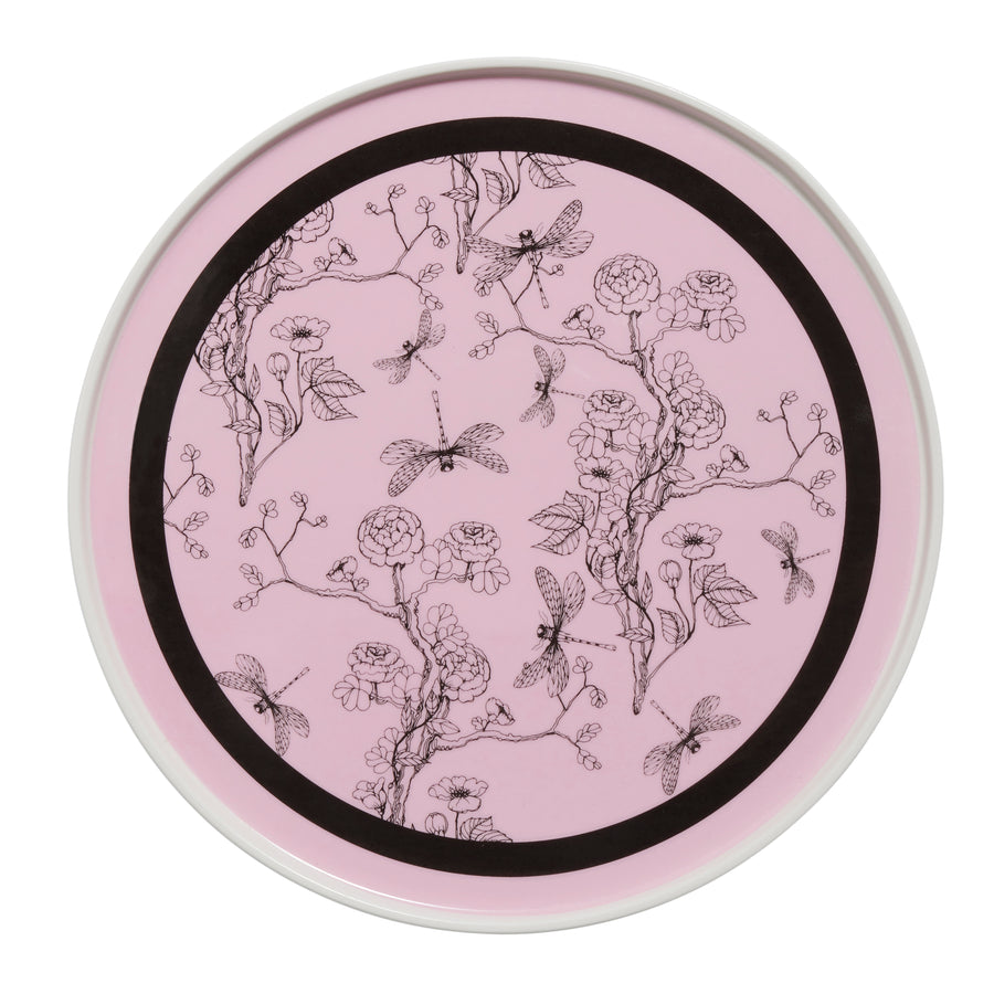 Pink and Black Chinoiserie