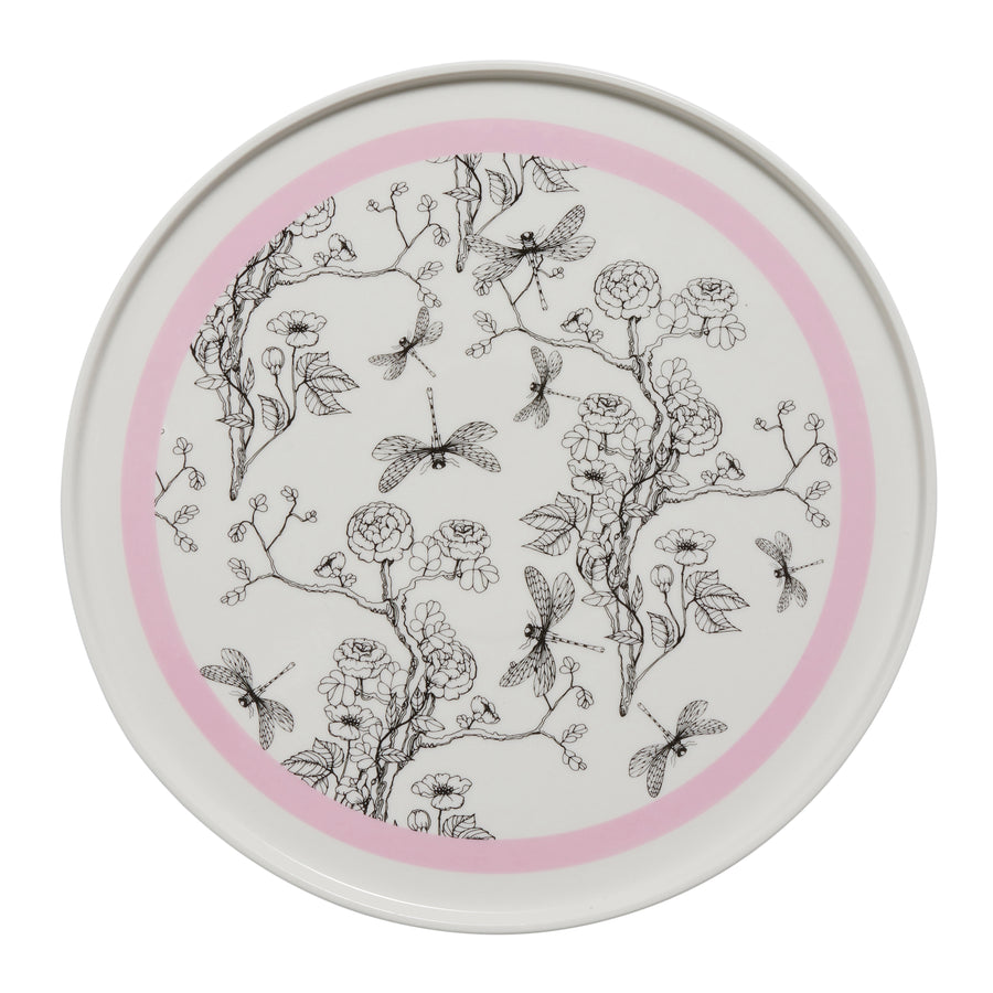 Pink and White Chinoiserie