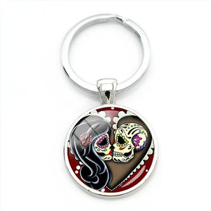 Eternal Love Sugar Skull Keychain.
