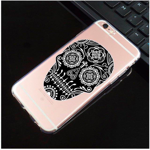 Diamond Mouth Transparent Sugar Skull iPhone Cover