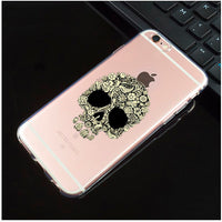 Only 4 Teeth Transparent Sugar Skull iPhone Cover