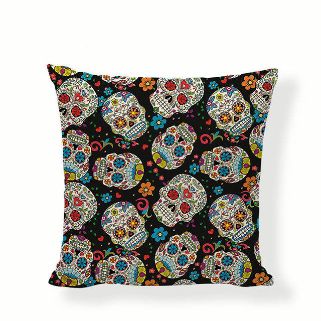 Many Smaller Skulls Sugar Skull Pillow Cover.