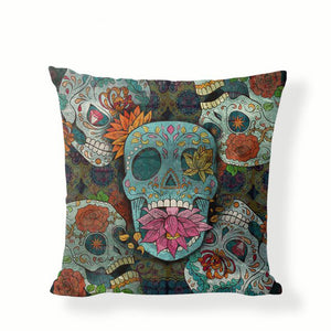 Five Skulls Sugar Skull Pillow Cover.