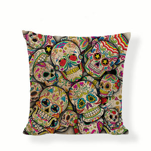 Many Skulls Sugar Skull Pillow Cover.
