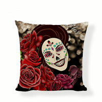 Big Smile Sugar Skull Pillow Cover.