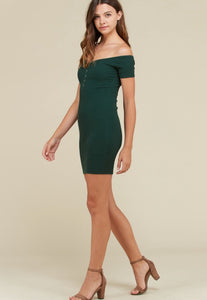 Evergreen Off Shoulder Body-Con