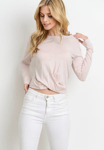 Front Knot Blush Top