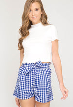 Load image into Gallery viewer, Blue Gingham Shorts