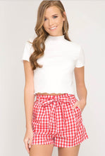 Load image into Gallery viewer, Red Gingham Shorts