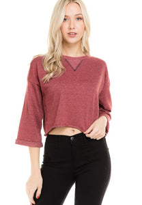 Burgundy Loose Fit Comfy Sweater