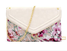 Load image into Gallery viewer, Fold Over Floral Clutch