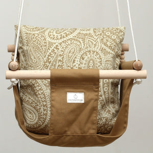 Handmade Baby Canvas Swing Forest - Brown