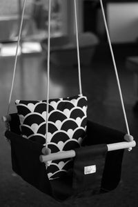 Handmade Baby Canvas Swing Monochrome - Black