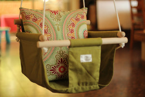 Handmade Baby Canvas Swing Rajasthan - Green - Flying Chick