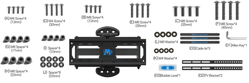 Mounting Dream Swivel TV mount MD2379 TV bracket