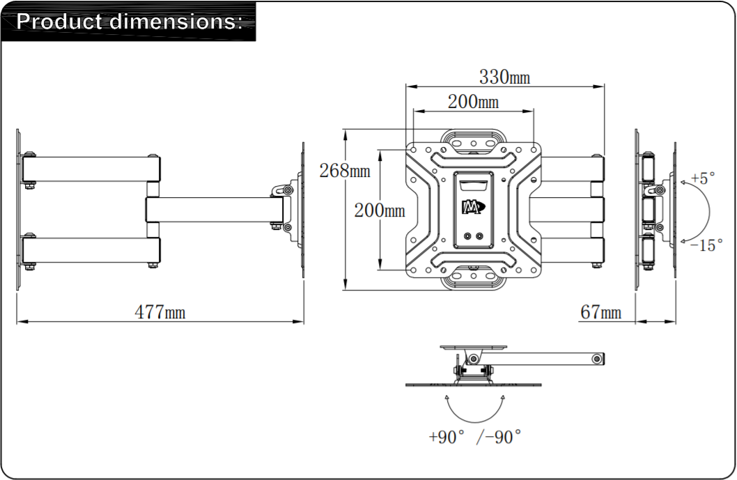 MD2413-S dimensions