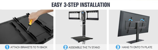 how to install a TV stand
