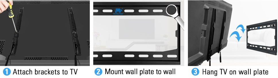 How to install Mounting Dream Fixed TV mount MD2361-K