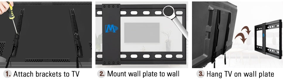 how to mount Moutning Dream MD2163-K TV wall mount