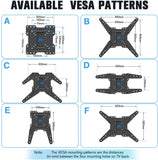 VESA 300x200 400x200 400x400 TV wall mount