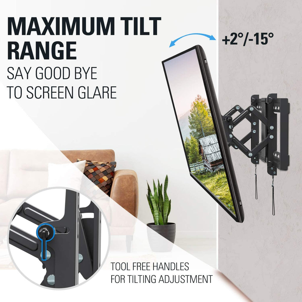 "Tilt TV Wall Mount TV Bracket for 42-70"" Flat Screen TVs, 24"" Wide Flush TV Mount Load up to 100 lbs MD2104"